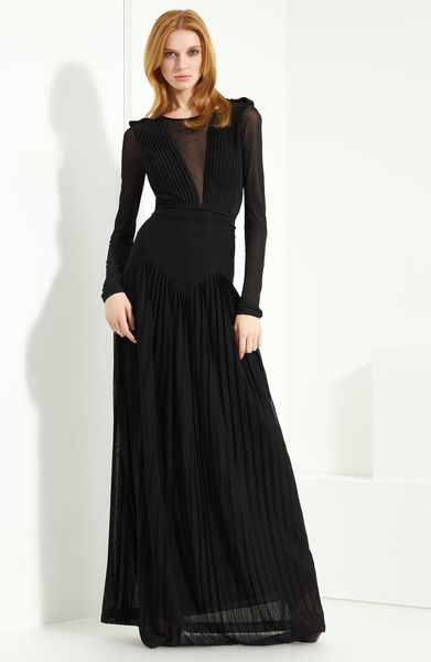 Burberry Prorsum Jersey Gown in Black - Lyst