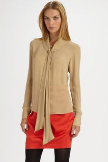 By Malene Birger Edita Lush Dedication Tie-neck Blouse - Lyst