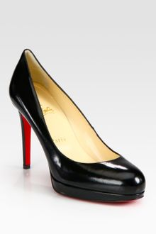 Christian Louboutin Leather Platform Pumps - Lyst