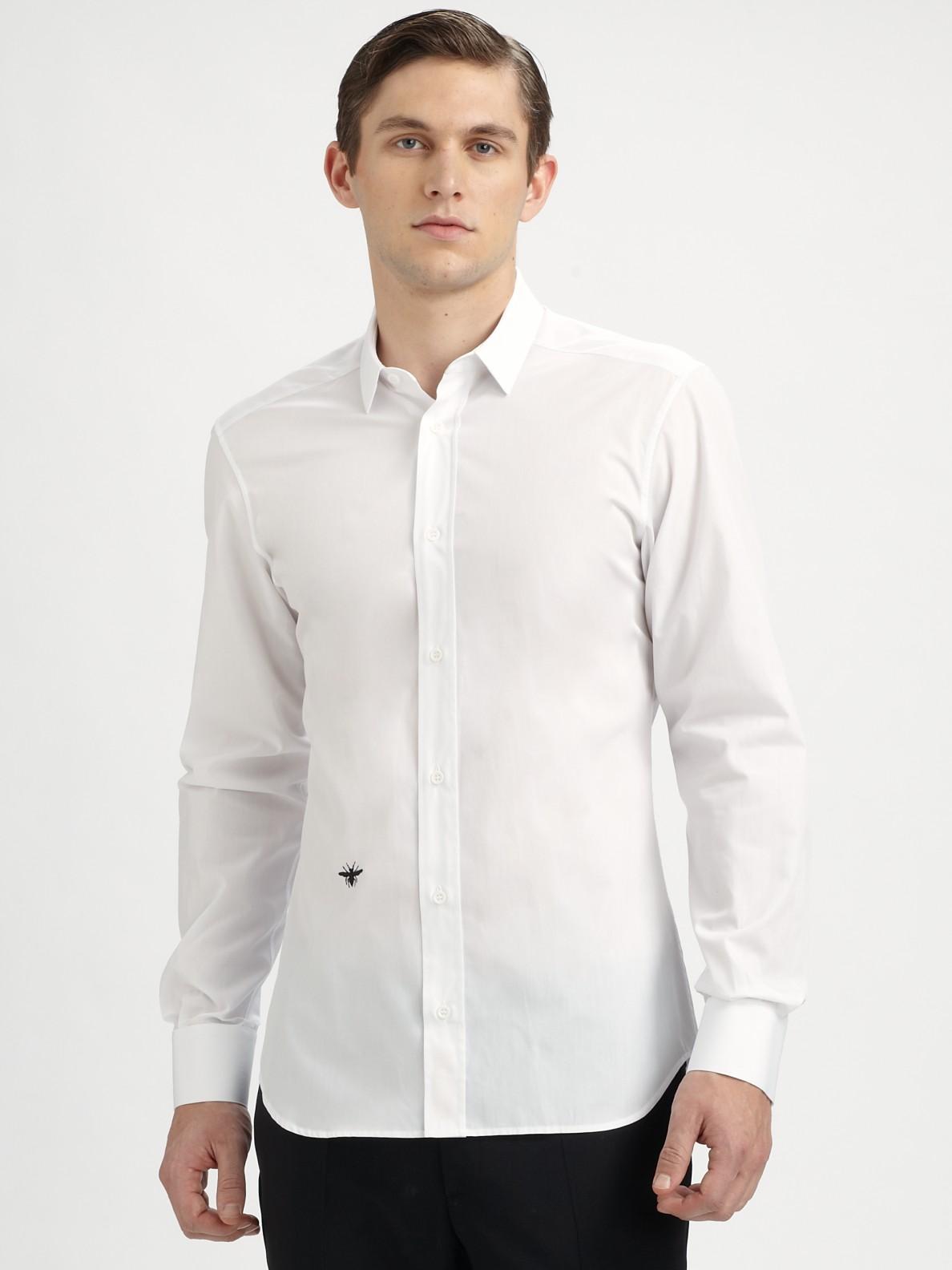 Dior Homme Poplin Dress Shirt in White for Men   Lyst