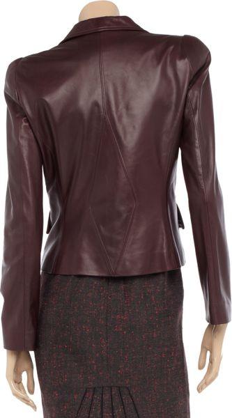 Gianfranco Ferr  Leather Jacket in Purple (burgundy) | Lyst
