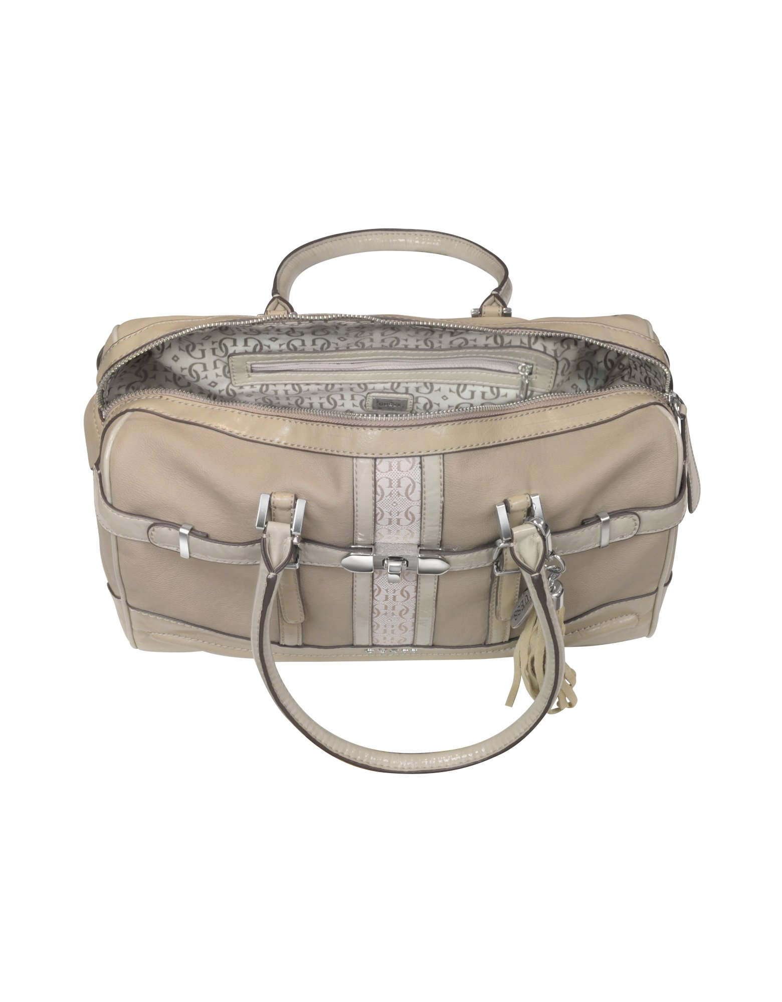 Lyst - Guess Scent City - Box Satchel Bag in Natural e045dac1296e7
