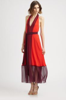 Shift Dress on Hippie Colorblock Dress With Self Tie In Red  Paprika Combo    Lyst