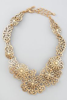 Oscar de la Renta Filigree Lace Necklace - Lyst