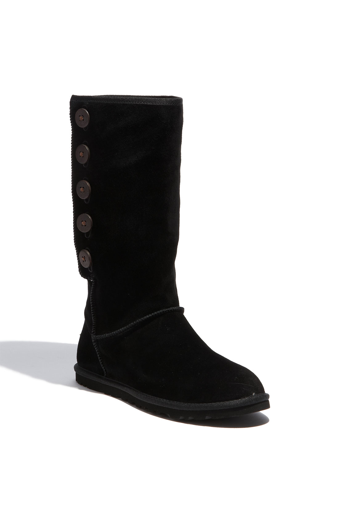 ugg lo pro suede boot in black lyst