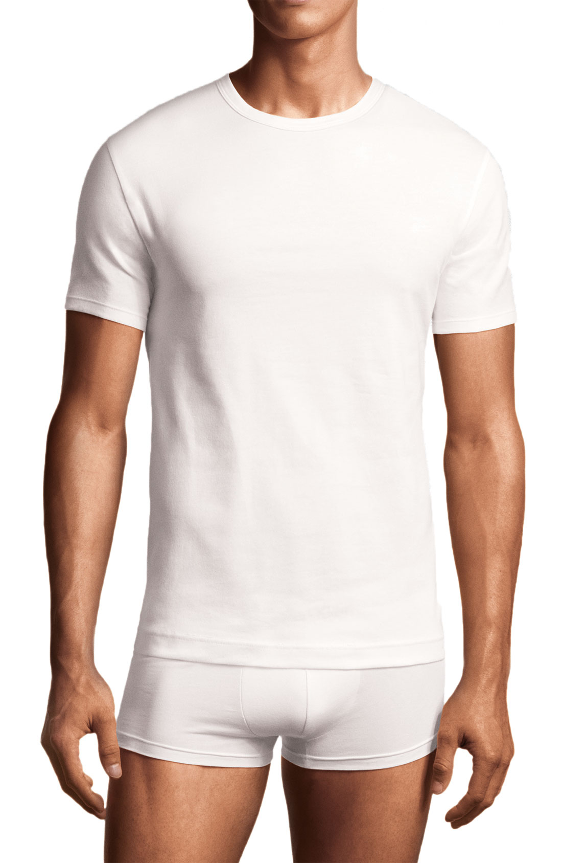 calvin klein crewneck t shirt 2 pack in white for men lyst. Black Bedroom Furniture Sets. Home Design Ideas