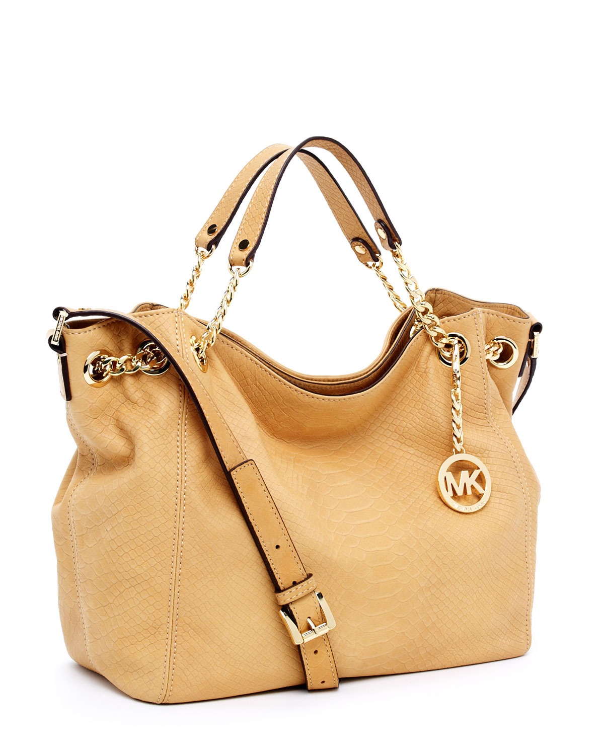 New Style Lyst Michael Kors Jet Set Chain Medium Gather Shoulder Tote Tan E592b 6f6b4
