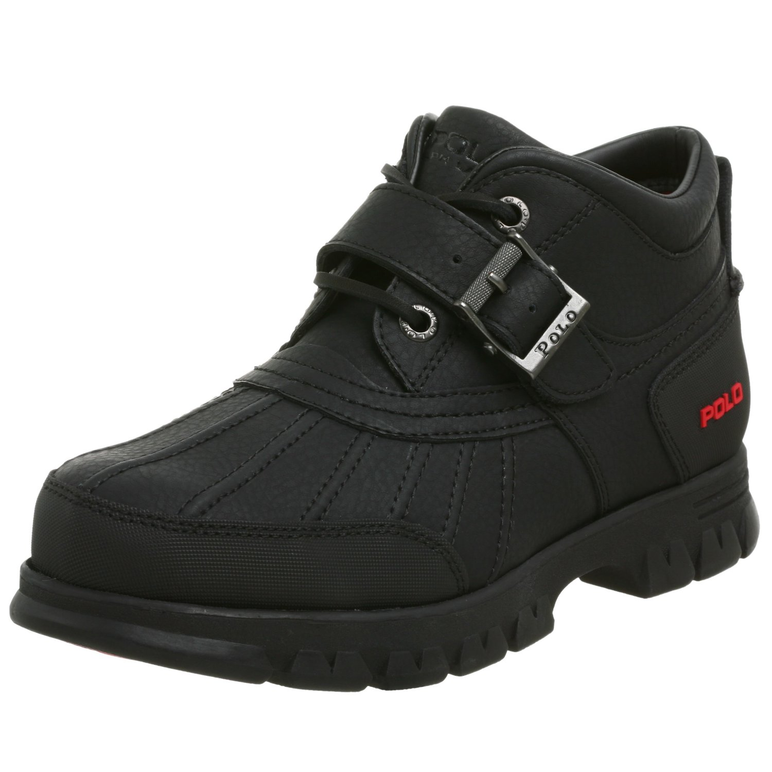 polo ralph mens dover ii ankle boot in black for