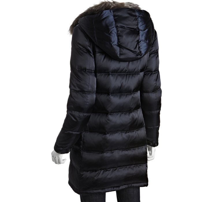 Lyst Prada Sport Navy Quilted Nylon Fur Collar Hooded