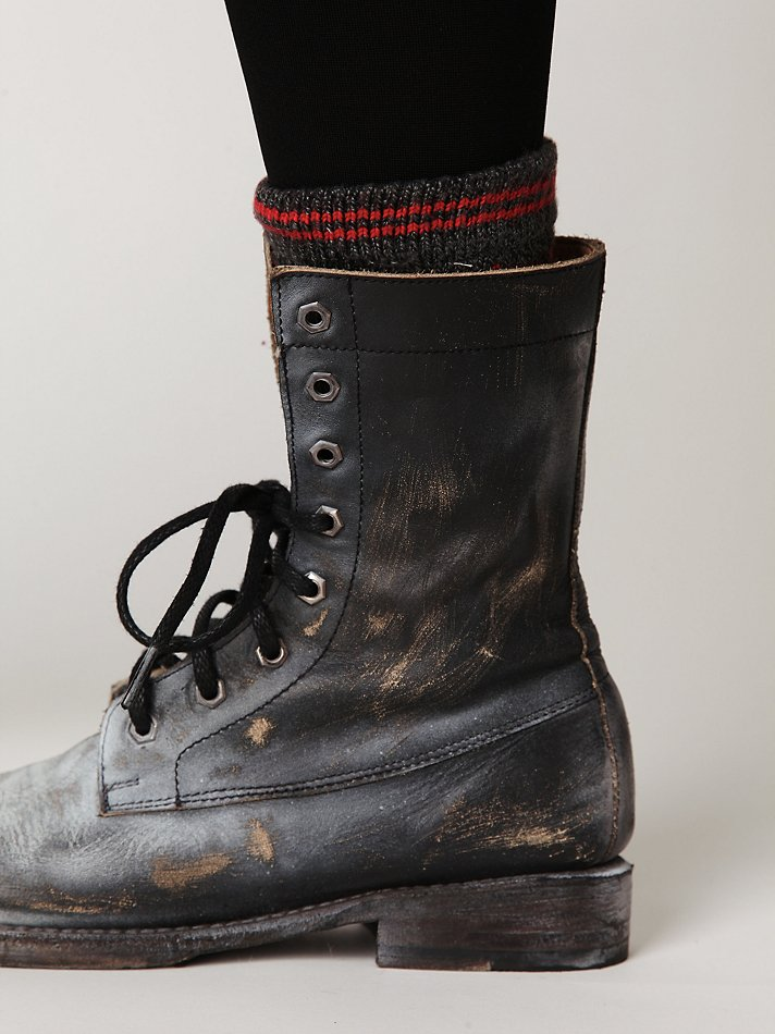 Free People Painted Distress Boot In Black Lyst