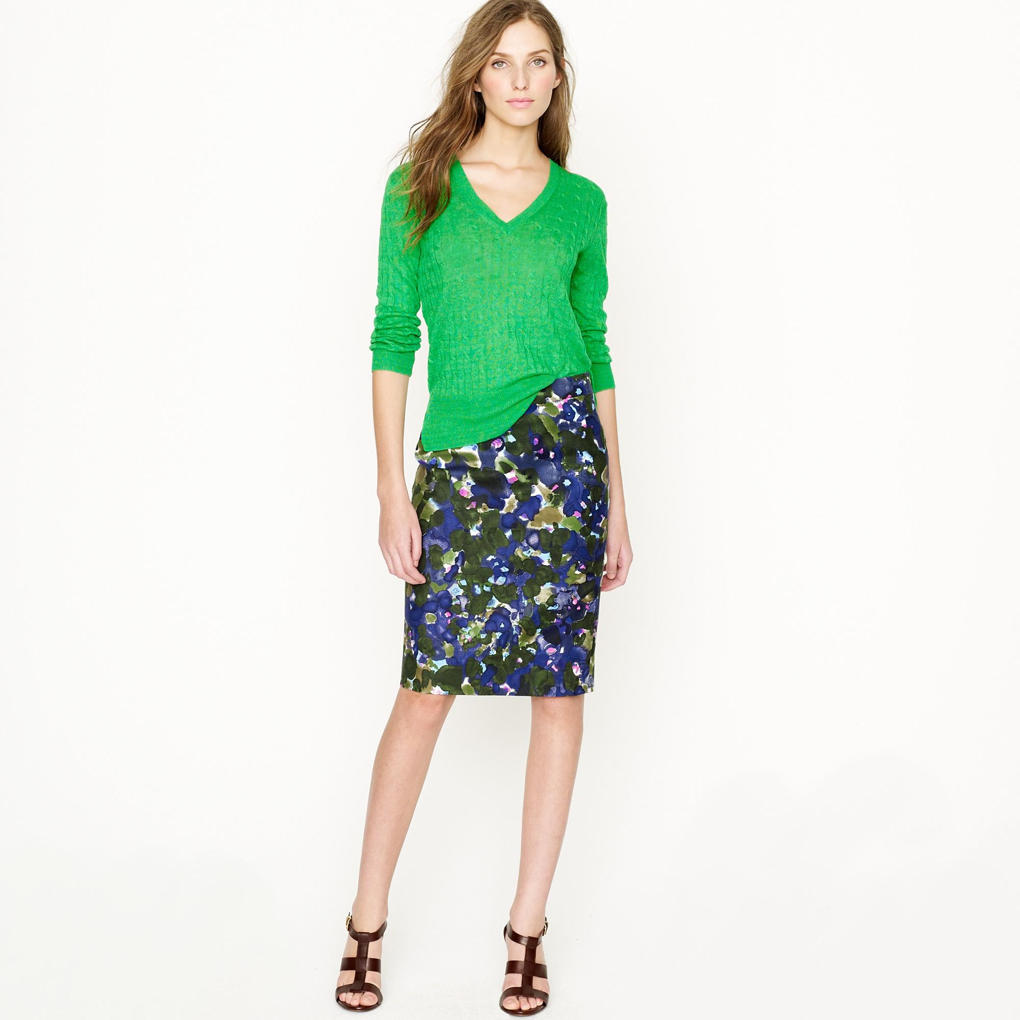 floral pencil skirt - photo #18