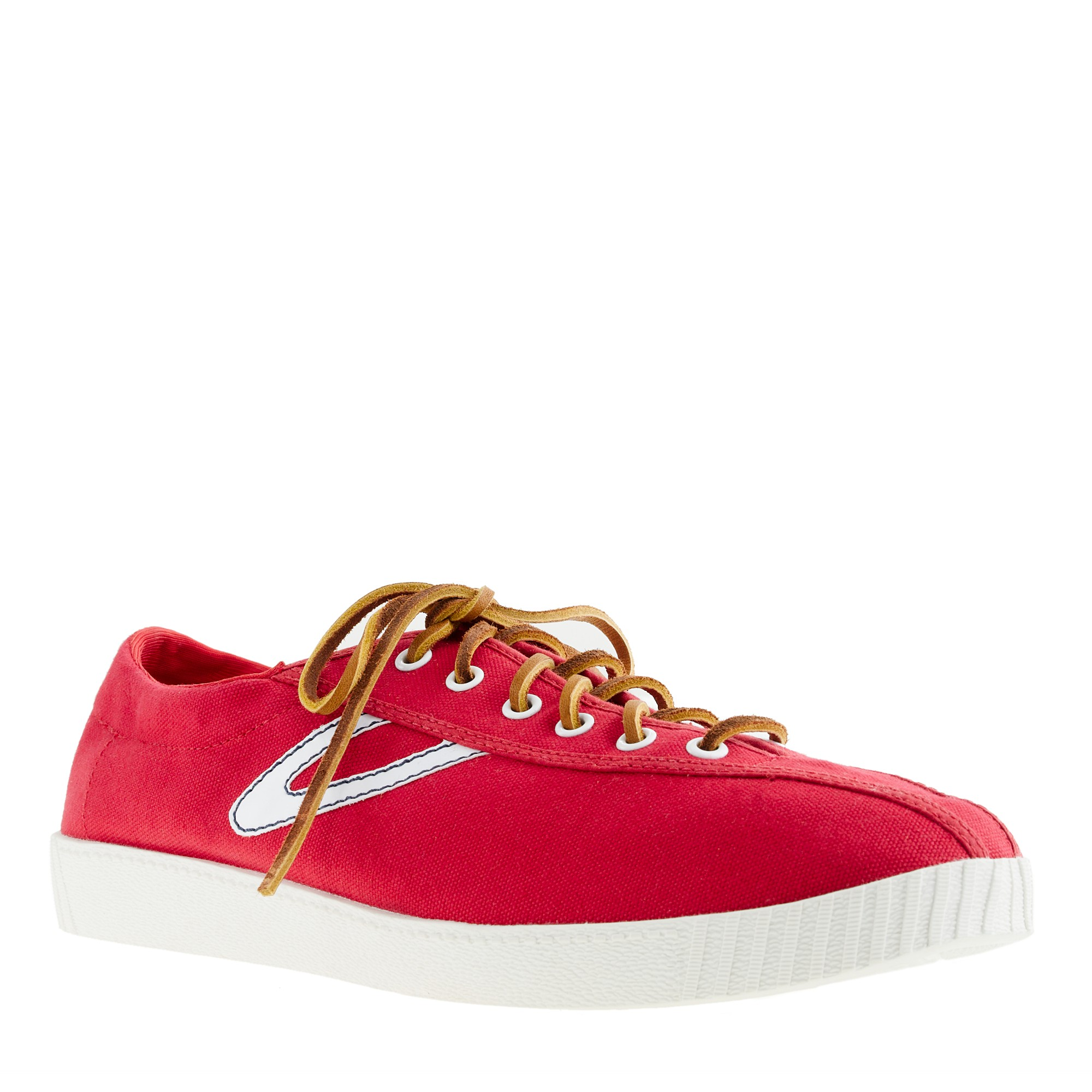 J Crew Tretorn 174 For J Crew Nylite Canvas Sneakers In Red