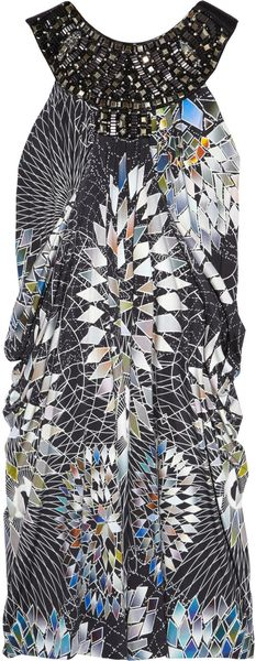 Matthew Williamson Embellished Silk-jersey Dress - Lyst