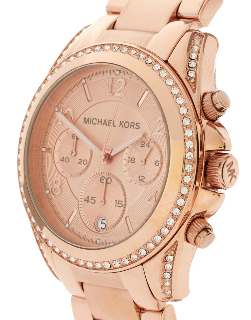 michael kors blair mk5263 rose gold chronograph watch in. Black Bedroom Furniture Sets. Home Design Ideas