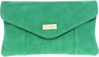 River Island Suede Envelope Clutch Bag - Lyst