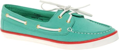 river island canvas boat shoes in blue turquoise lyst
