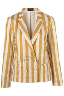 Topshop Co-Ord Stripe Fluid Blazer - Lyst