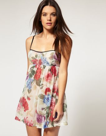 ASOS Collection Bouquet Floral Mesh Slip - Lyst