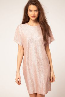ASOS Collection Asos Metallic Cocoon Dress - Lyst