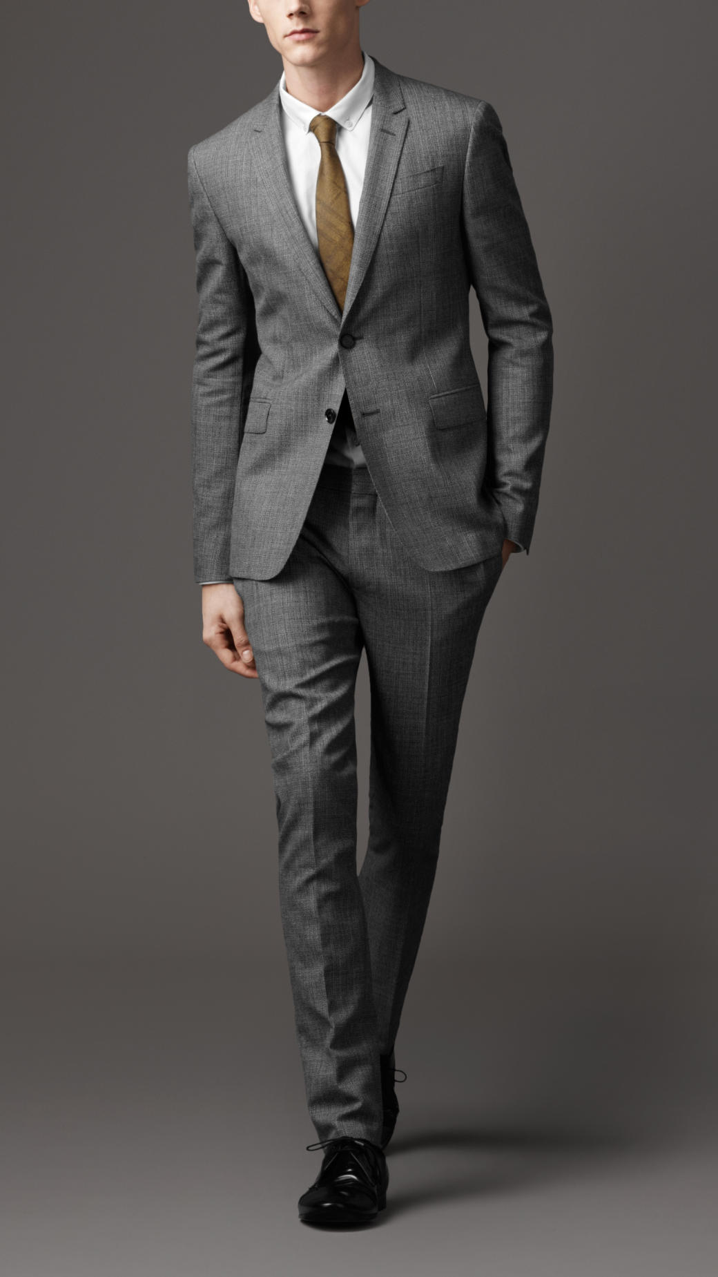 Burberry Wool and Mohair Slim Fit Suit in Gray for Men ...