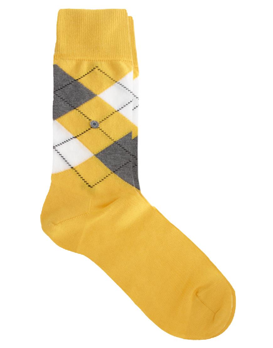 Lyst Smythson Machester Argyle Socks In Yellow For Men