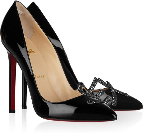 Christian Louboutin Sex 120 PatentLeather Pumps in Black (gray) - Lyst