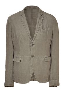 D&G Grey Two-button Linen Blazer - Lyst