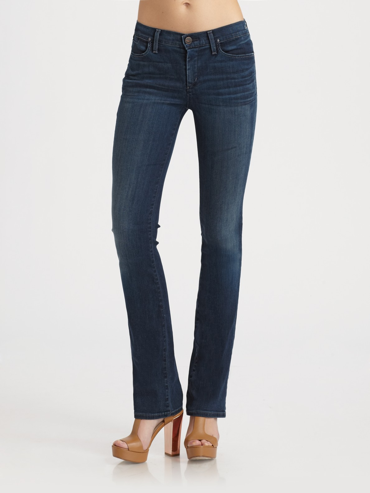 Goldsign Quinn Slim Bootcut Jeans in Blue | Lyst