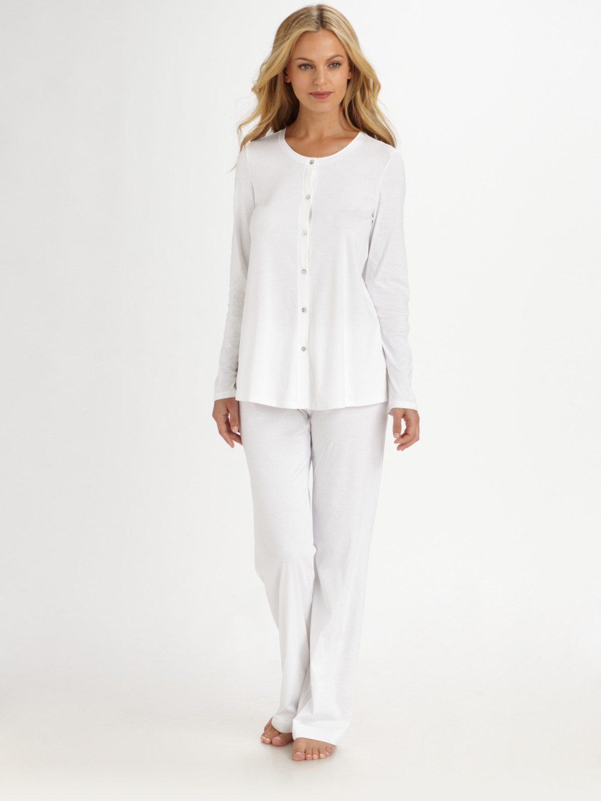 Hanro Tonight Pajamas In White Lyst