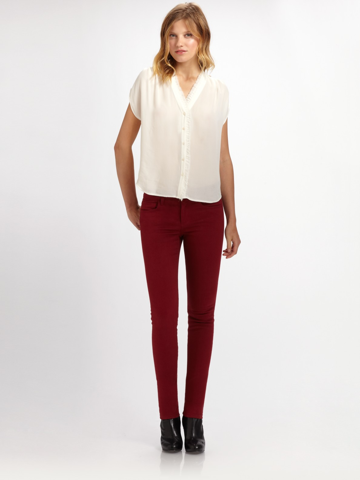 Lyst - Joe'S Jeans Colored Skinny Jeans in Red