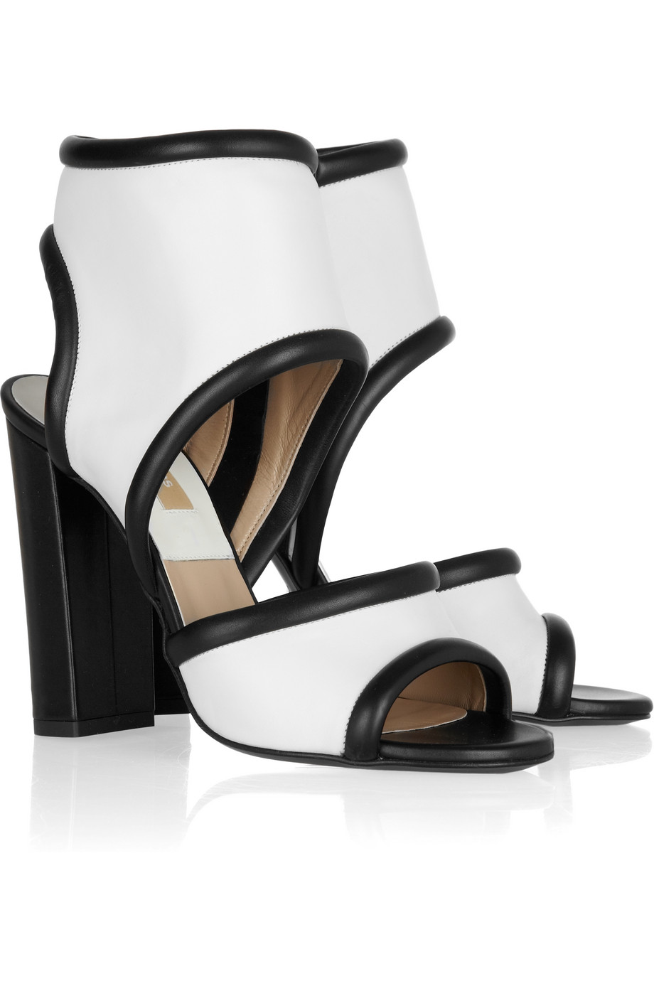 michael kors leather cuff sandals in black lyst