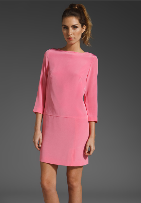 Tibi Essentials Shift Dress in Pink | Lyst