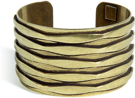 Dannijo Oxidized Brass Plated Talum Cuff in Gold