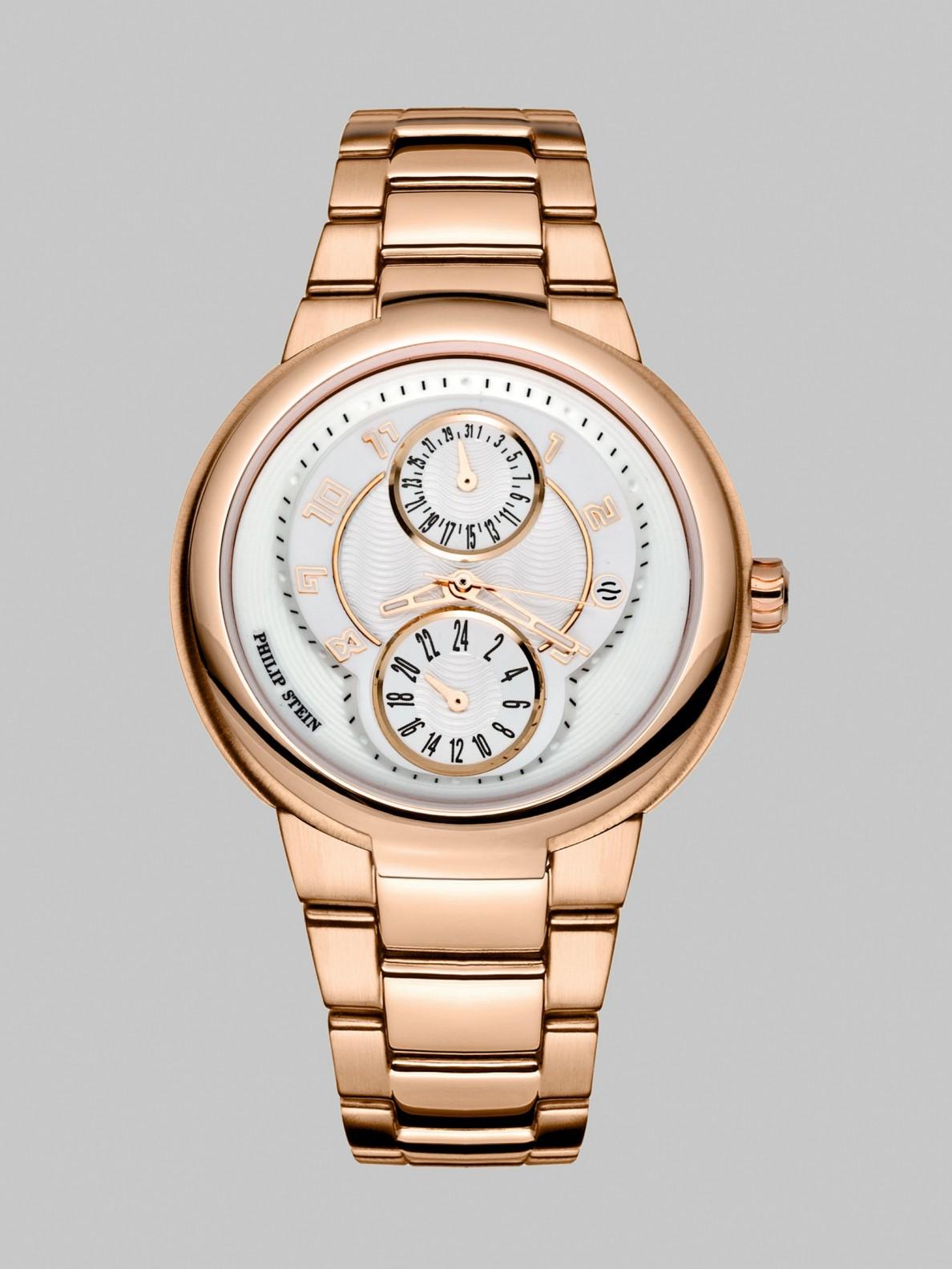 Stein Rose: Philip Stein Active 23k Rose Goldplated Watch In Pink