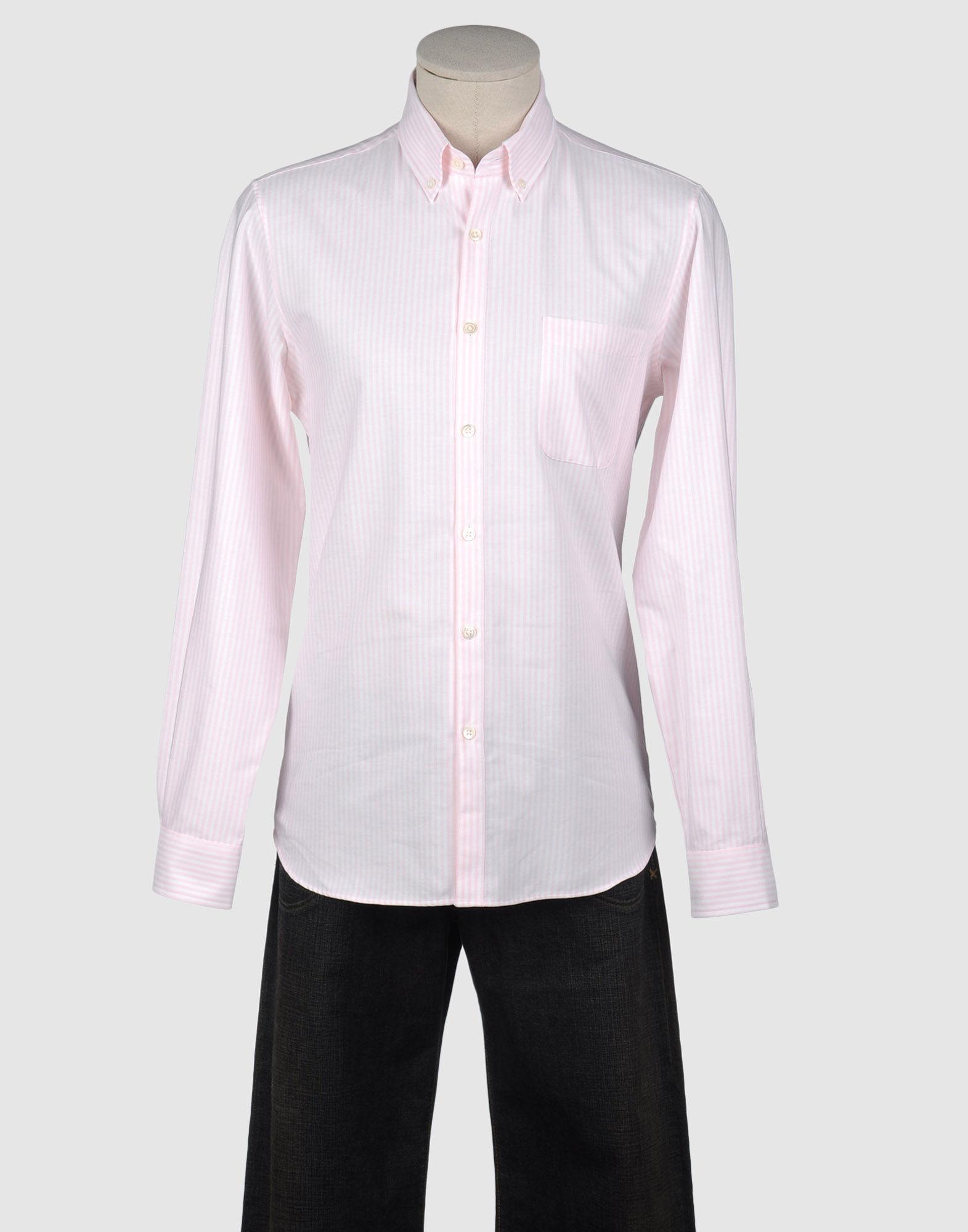 Hentsch man long sleeve shirt in pink for men save 64 for Mens pink long sleeve shirt