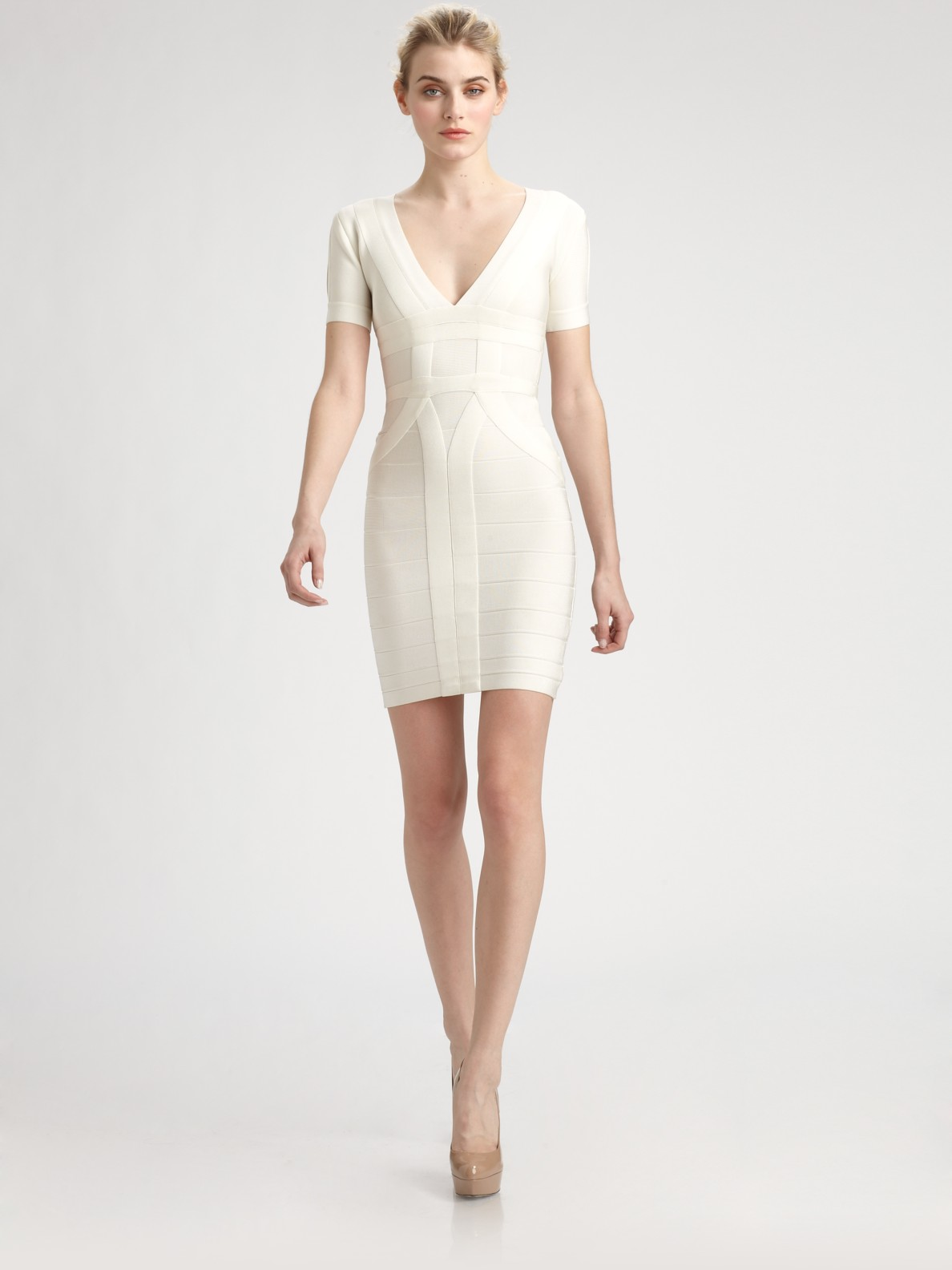 Lyst Herv 233 L 233 Ger Wynn Dress In White