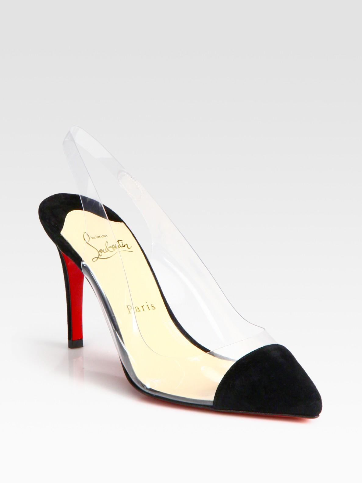 imitation christian louboutin shoes - Artesur ? christian louboutin satin pointed-toe slingback pumps Black