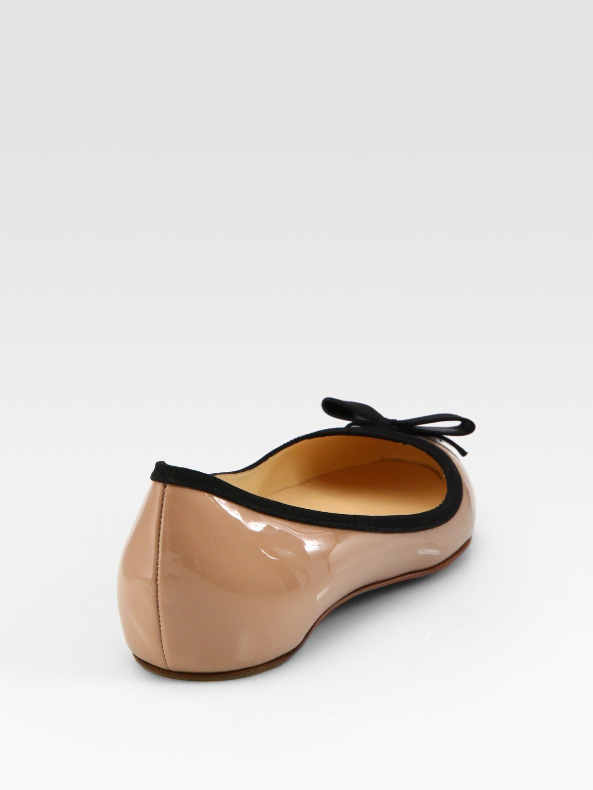 christian louboutin ballet flats Nude leather | Boulder Poetry Tribe