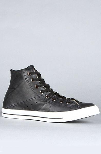 Converse Motorcycle Jacket Hi Sneaker in Black in Black for Men