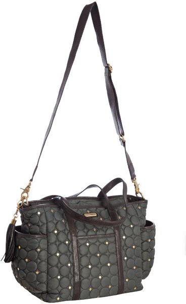 Rebecca Minkoff Charcoal Quilted Nylon Marissa Baby Bag In