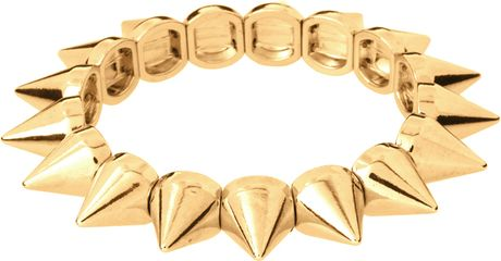 Asos Asos Spike Stretch Bracelet in Gold