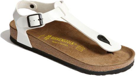 Birkenstock Kairo Sandal in White (white patent)