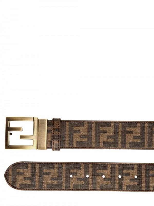 1d8352c92bf2 ... czech lyst fendi 4cm zucca logo canvas belt in brown for men acce3 45023