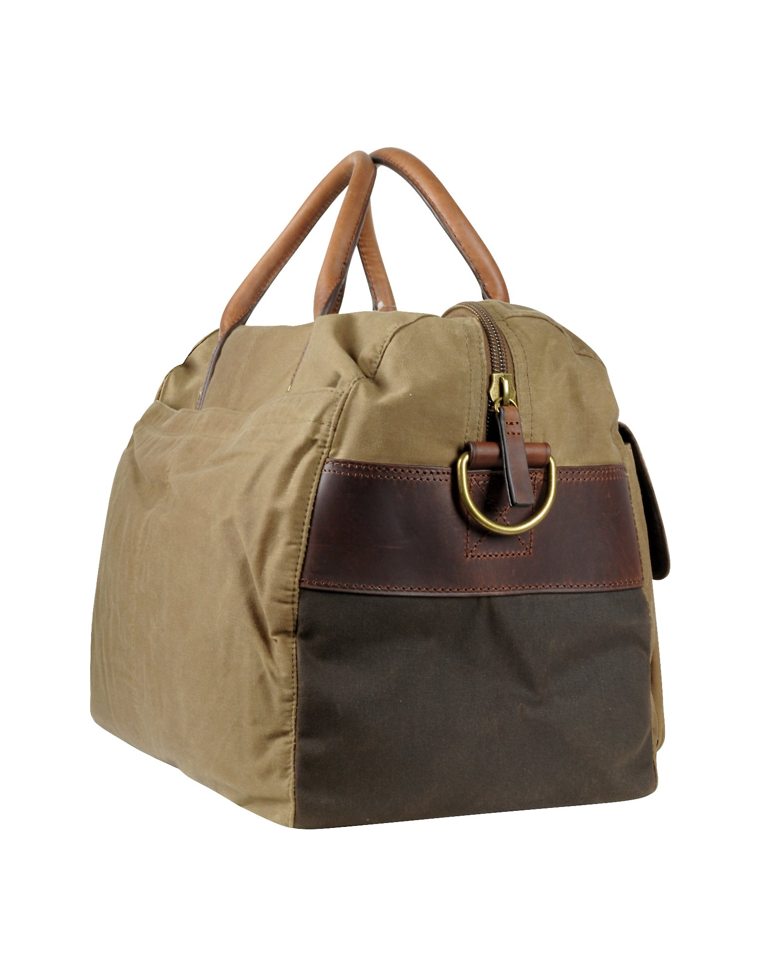 46b84383287a Lyst - Fossil Wagner - Brown Canvas Duffle Bag in Brown for Men