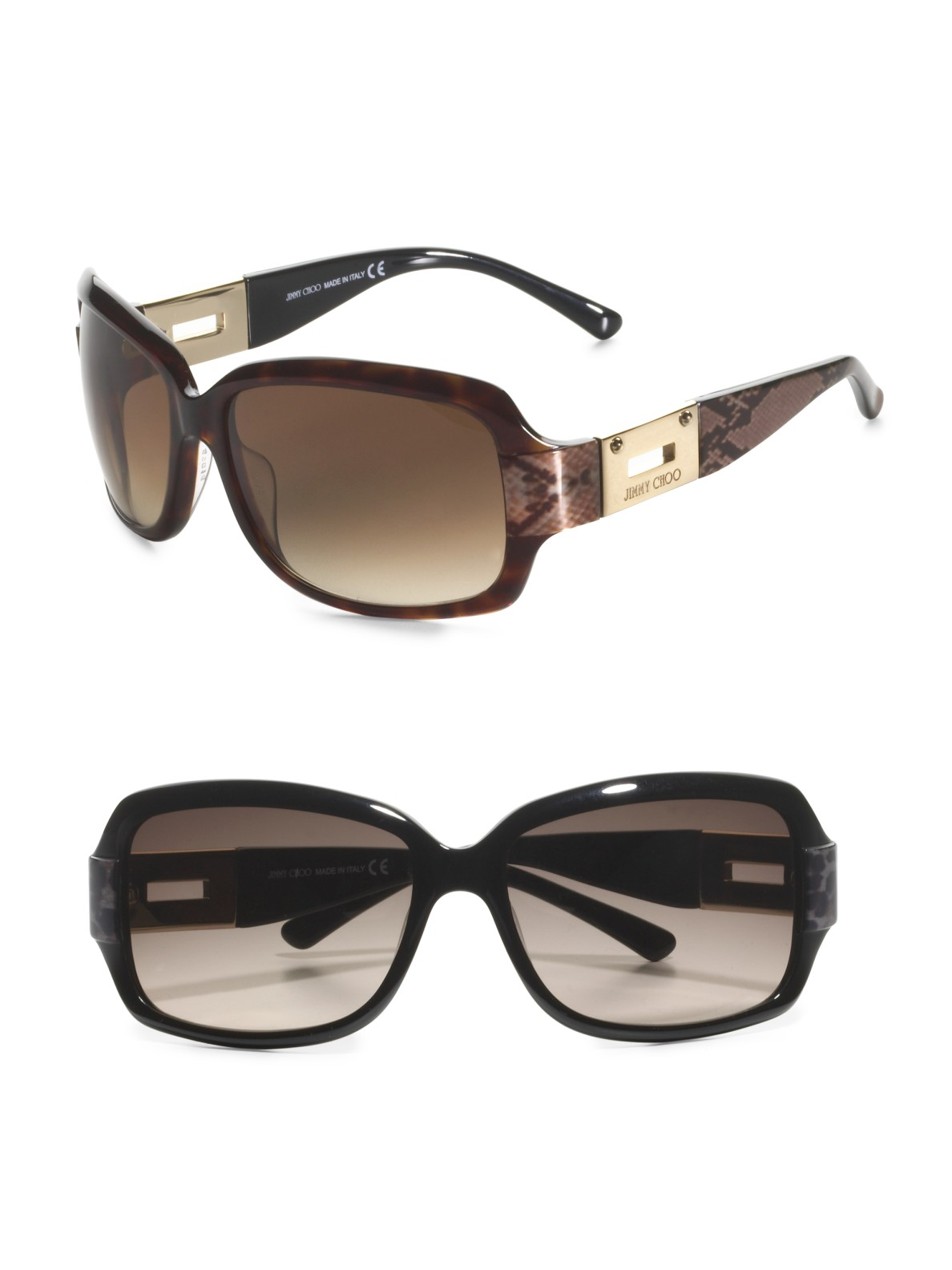 Lyst Jimmy Choo Essie Sunglasses In Black