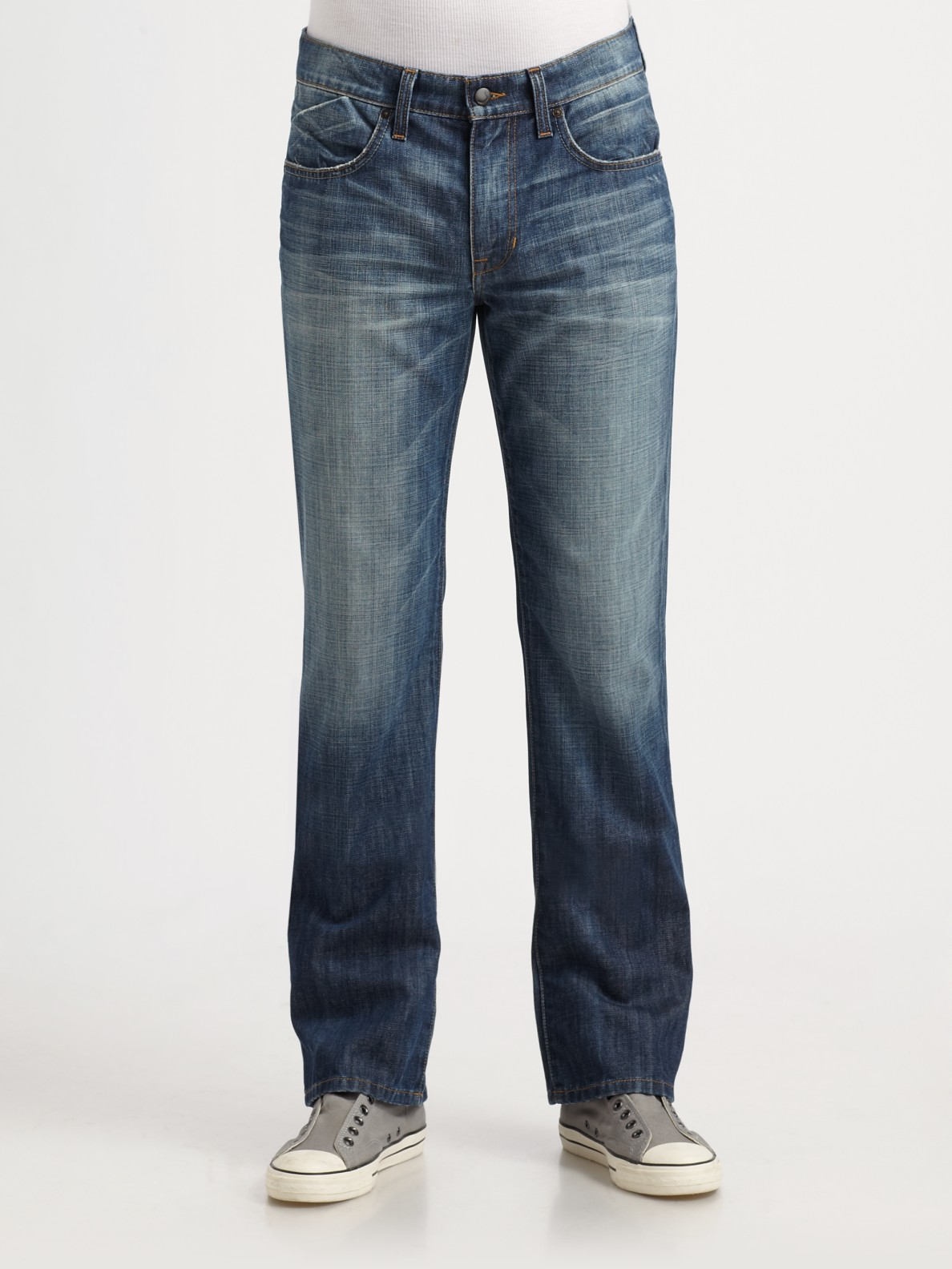 Slim Bootcut Jeans For Men