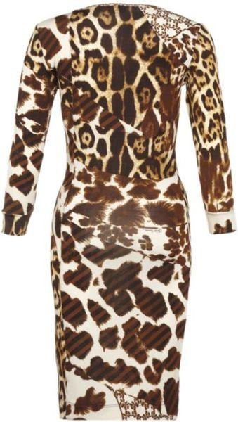 Just Cavalli Leopard Print Dress In Animal Leopard Lyst