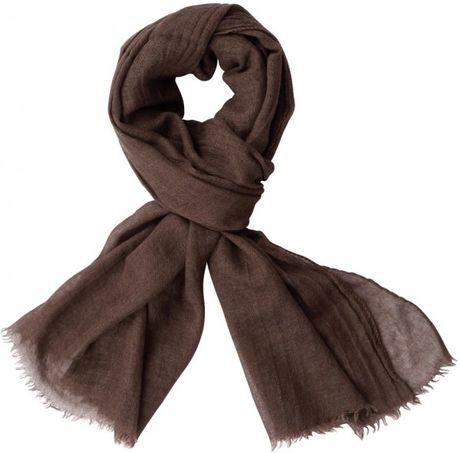 Lanvin Silk and Cashmere Gauze Scarf in Brown for Men  Lyst  Cashmere And Silk Scarves For Men