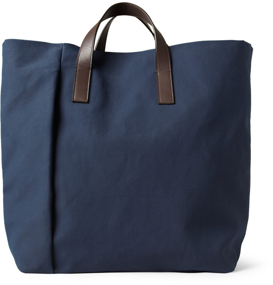 Marni coated canvas tote bag in blue for men lyst
