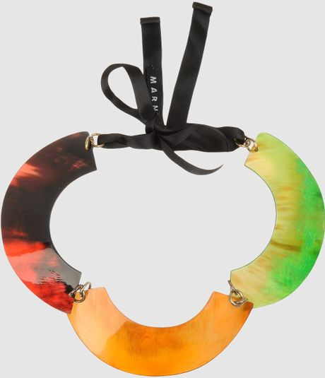 Marni Necklace in Multicolor (coral)